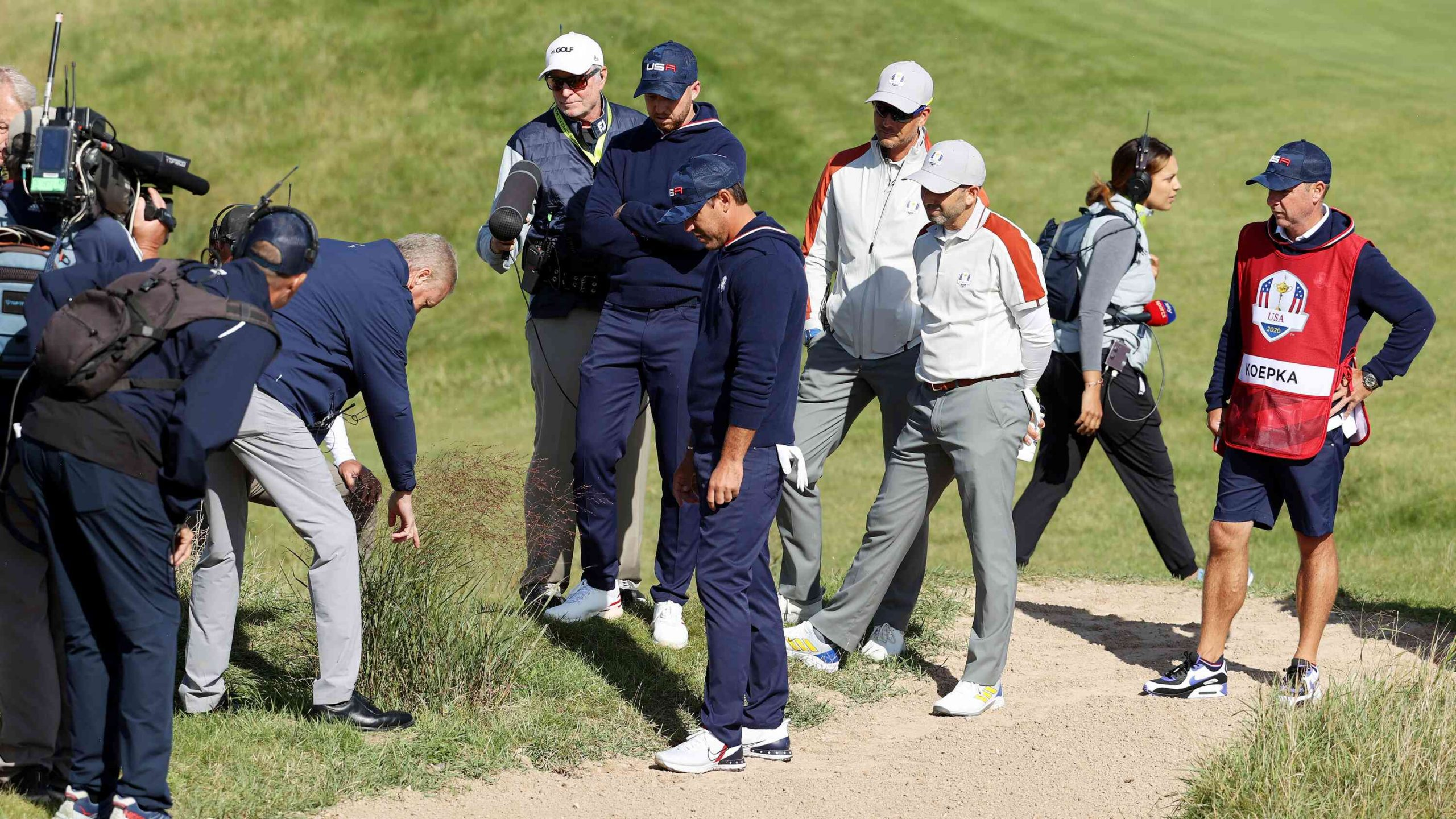 Sergio Garcia's epic eagle putt sinks US at Ryder Cup