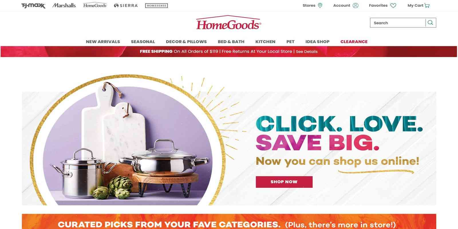 HomeGoods adds e-commerce to fit in with rising demand for online shopping